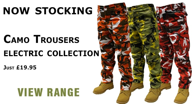 Camo Trousers - Electric Collection