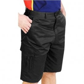 AA753 Cargo Work Shorts Black