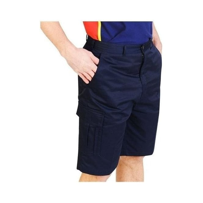 Absolute Apparel AA753 Cargo Work Shorts Navy