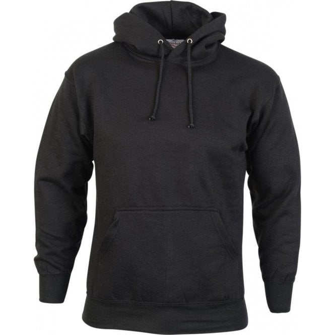 Absolute Apparel Black Urban Hooded Sweatshirt 300g