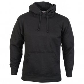 Black Urban Hooded Sweatshirt 300g