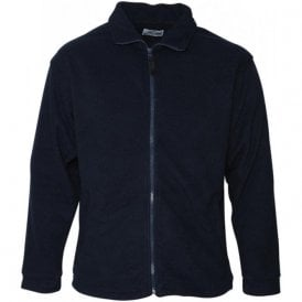 Navy Heritage Full Zip Fleece
