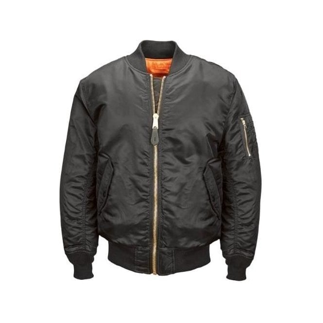 Alpha Industries Black MA-1 Original Flight Bomber Jacket