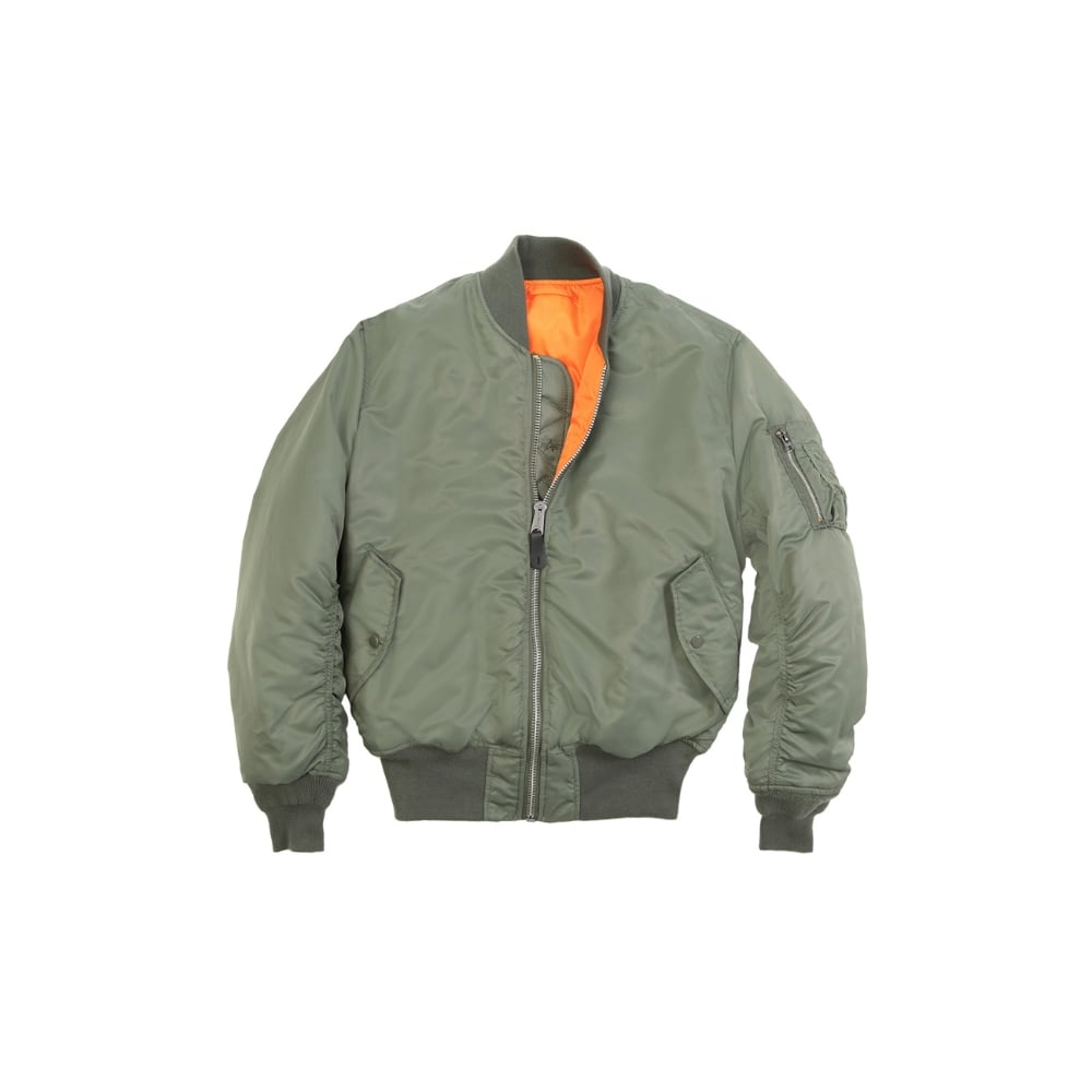 Green MA-1 Original Flight Bomber Jacket | Army &amp Navy Stores UK