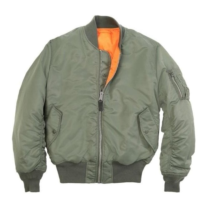 Green MA-1 Original Flight Bomber Jacket | Army & Navy Stores UK