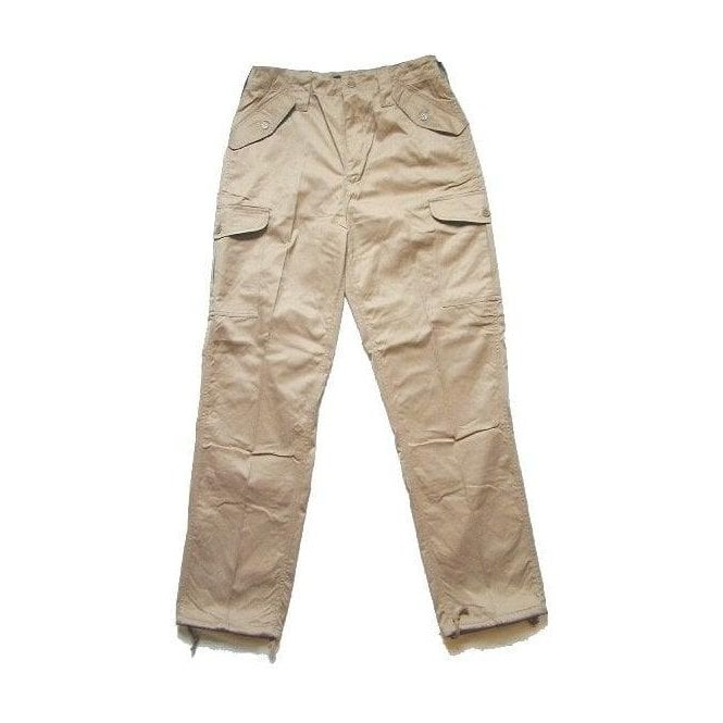 Army&Navy Beige Military Style Combat Trouser