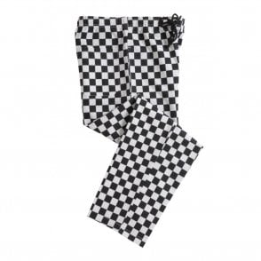 Black and White Check Polycotton Chefs Trouser