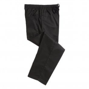 Black Polycotton Chefs Trouser