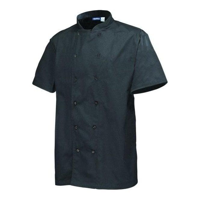 Army&Navy Black Short Sleeve Chef Jacket