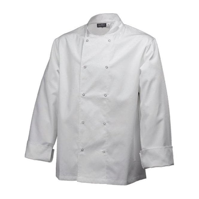Army&Navy White Long Sleeve Chef Jacket