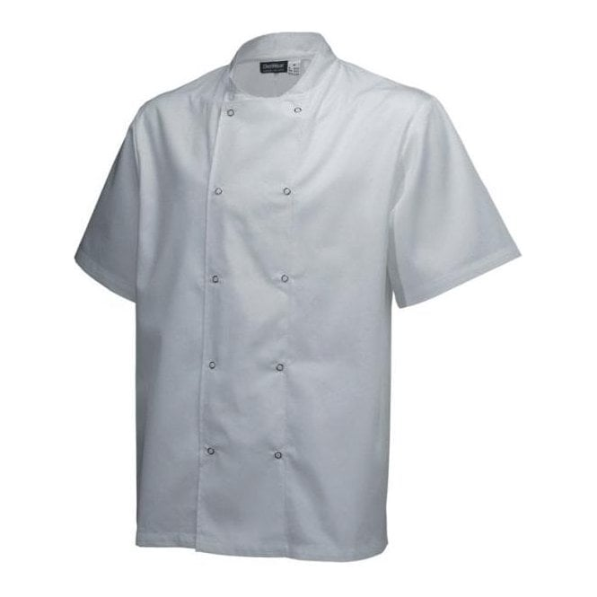 Army&Navy White Short Sleeve Chef Jacket