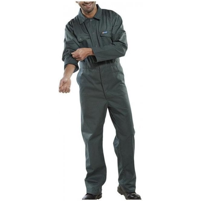 B-Click Workwear Polycotton Boiler Suit Green