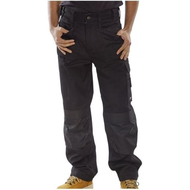 B-Click Workwear Click Premium Multi Purpose Trousers Black