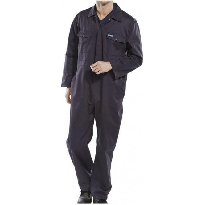 B-Click Workwear Polycotton Boiler Suit Navy