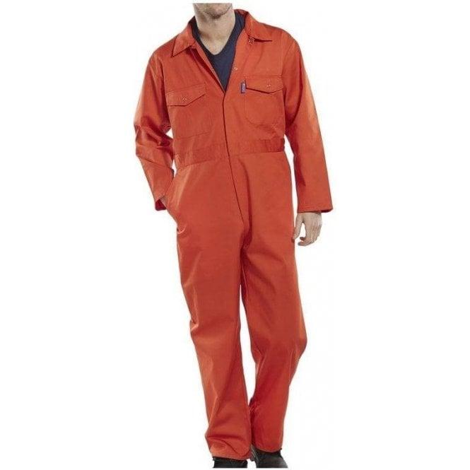 B-Click Workwear Polycotton Boiler Suit Orange