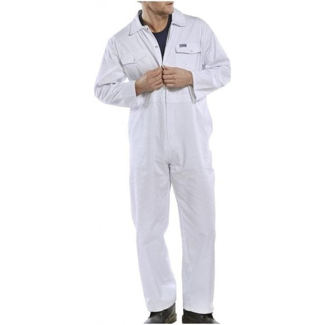 B-Click Workwear Polycotton Boiler Suit White