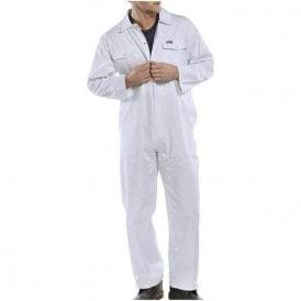 Polycotton Boiler Suit White