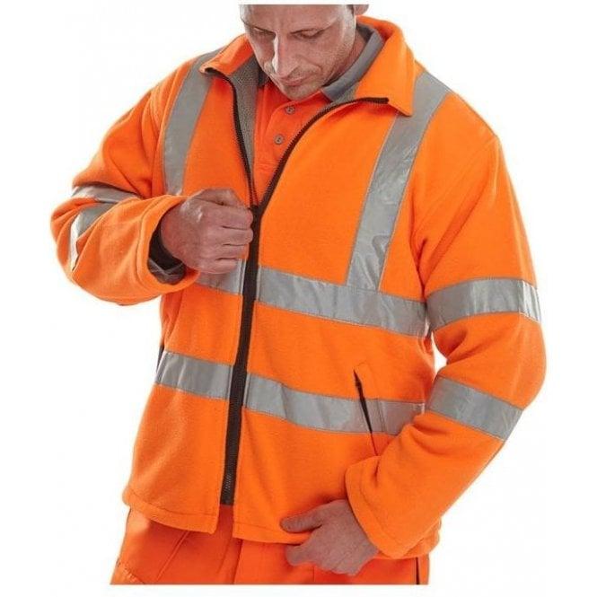 B-Seen Orange Hi-Vis High Visibility Fleece