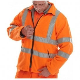 Orange Hi-Vis High Visibility Fleece
