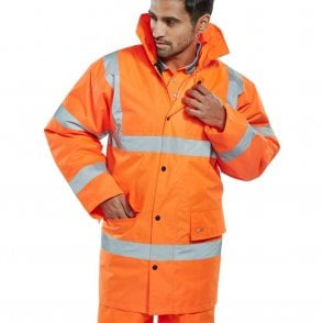 Orange Hi-Vis High Visibility Jacket