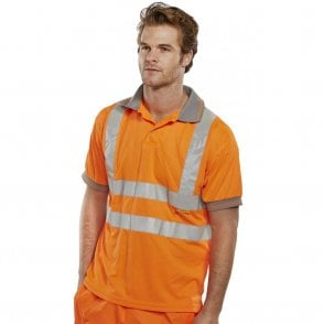Orange Hi-Vis High Visibility Polo Shirt