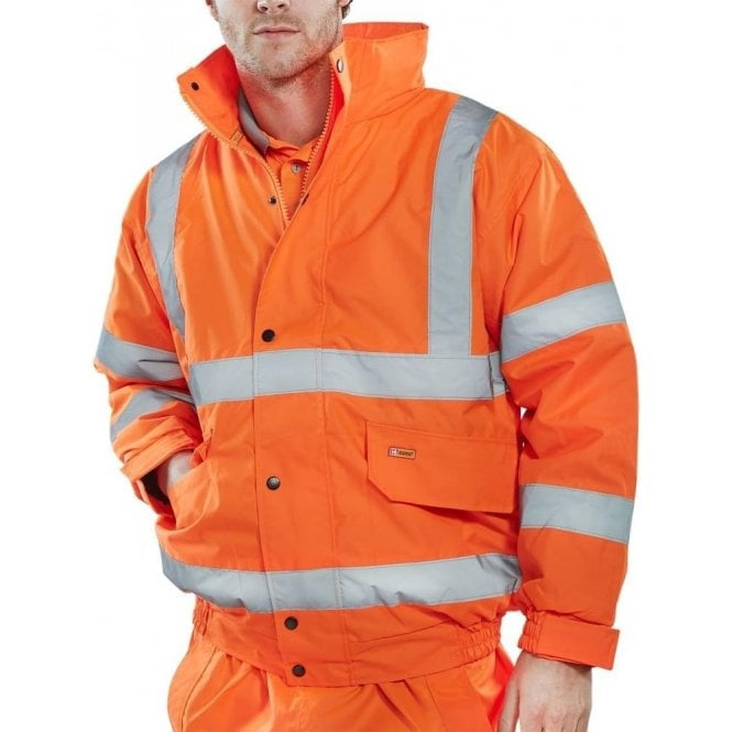 B-Seen Orange Hi Visibility Bomber Jacket