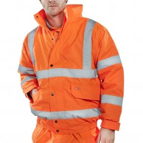 Orange Hi Visibility Bomber Jacket