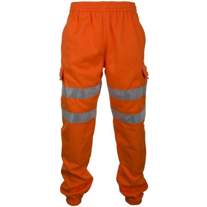B-Seen Orange Hi-Visibility Jogging Bottoms