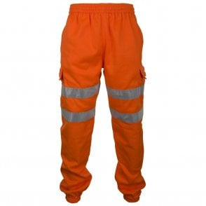 Orange Hi-Visibility Jogging Bottoms