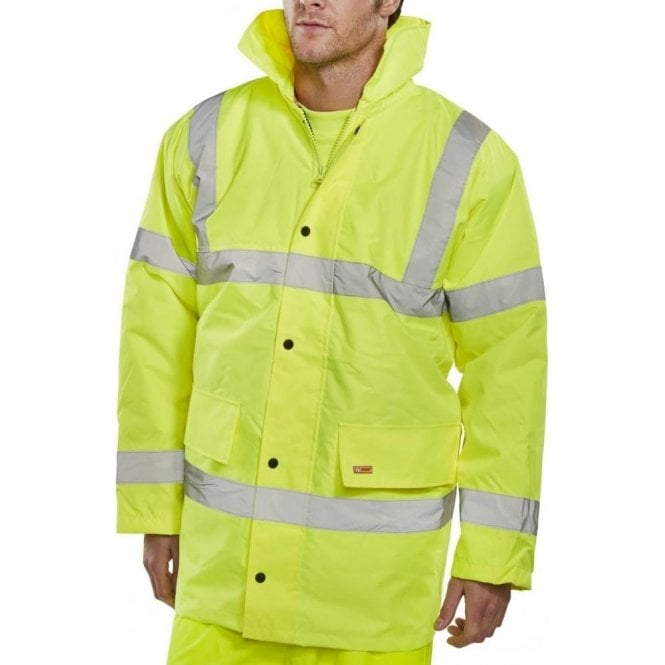 B-Seen Yellow Hi-Vis High Visibility Jacket