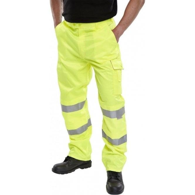 B-Seen Yellow Hi-Viz High Visibility Trousers