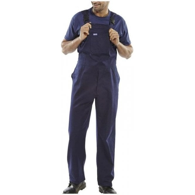 BeeSwift Cotton Drill Bib & Brace Navy