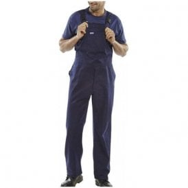 Cotton Drill Bib & Brace Navy