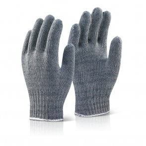 Grey Mixed Fibre Gloves