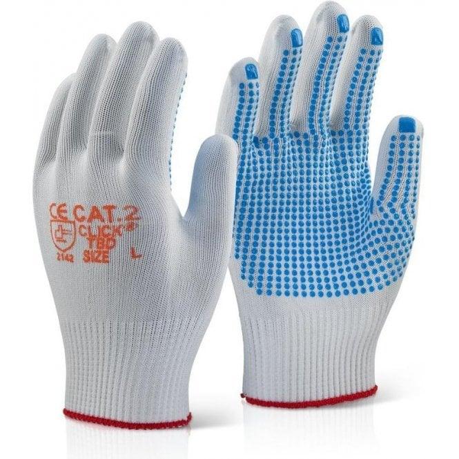 BeeSwift Tronix Blue Dot Grip Gloves 10 Pack