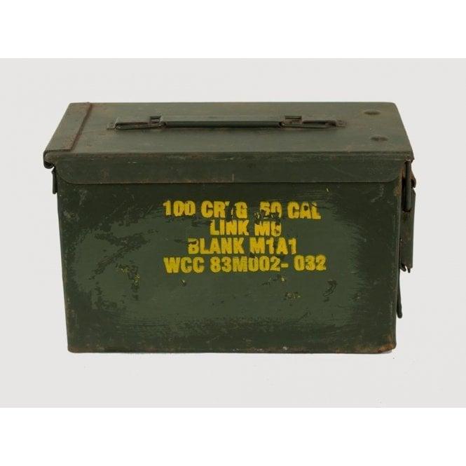 British Army Surplus Genuine 50 Cal Calibre Ammo Box