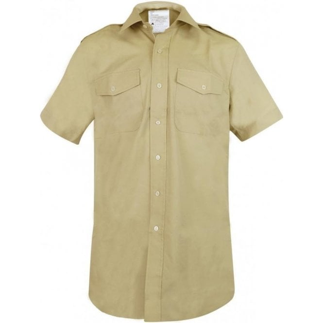 British Army Surplus Genuine British Army Fawn Short Sleeve Shirt