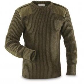 Genuine British Army Grade 1 100% Wool Commando Pullover