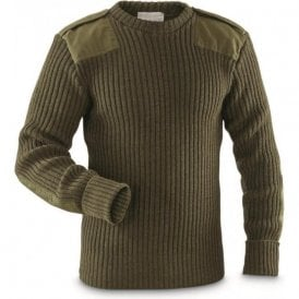 Genuine British Army Grade 1 100% Wool Commando Pullover