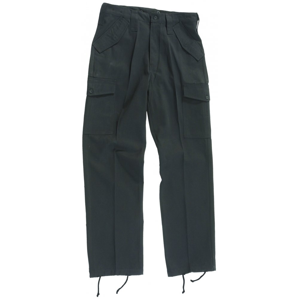 Black Military Style Combat Trousers  357aad7967d