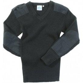 Nato Style V-Neck Jersey Black