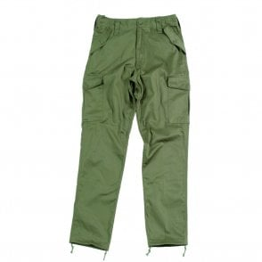 Olive Green Military Style Combat Trouser