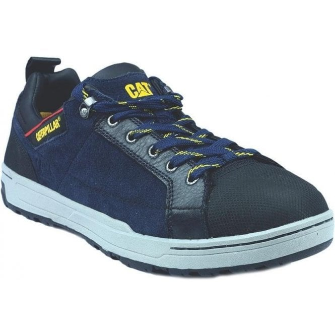 Caterpillar Navy Brode Low Safety Trainer Shoes