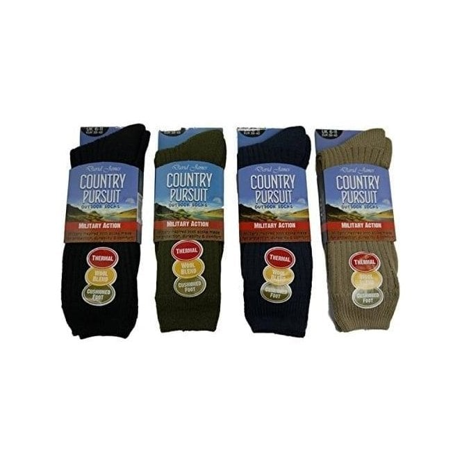 David James Country Pursuit Military Action Socks