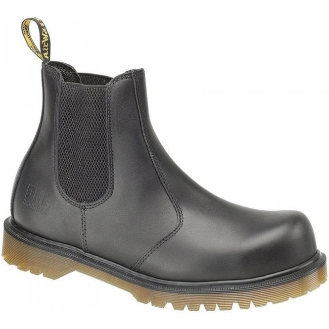Dr. Martens 2228 Black Leather Dealer Safety Boot