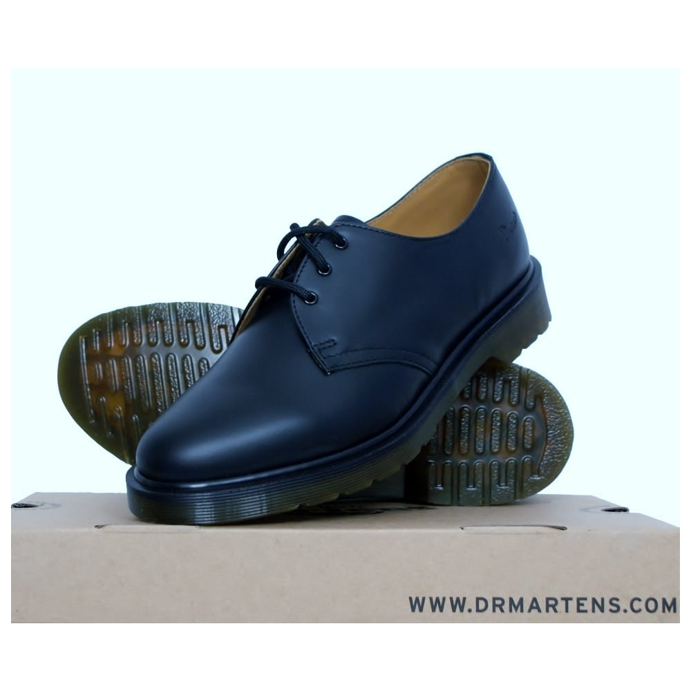 Black 1461 Flat Shoes Army Amp Navy Stores Uk