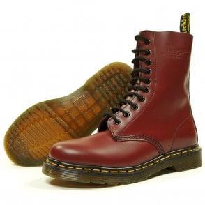 Cherry 10 Eye Boot
