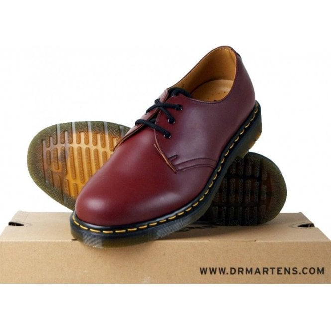 Dr. Martens Cherry 1461, Unisex-Adults' Lace-Up Flat Shoe
