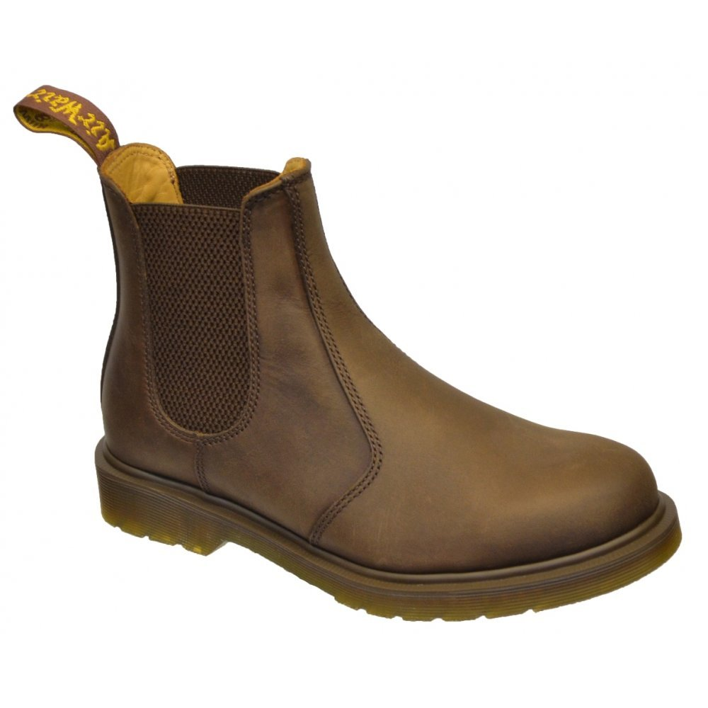 GRAFTERS GAUGHO CRAZY HORSE BROWN LEATHER CHELSEA BOOTS UNISEX SOLE OF AIR MENS
