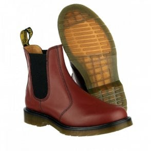 Dr Martens DM'S 2976 Cherry Red Chelsea Dealer Boots
